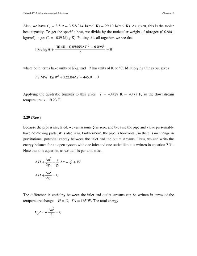 introduction chemical engineering thermodynamics solutions manual