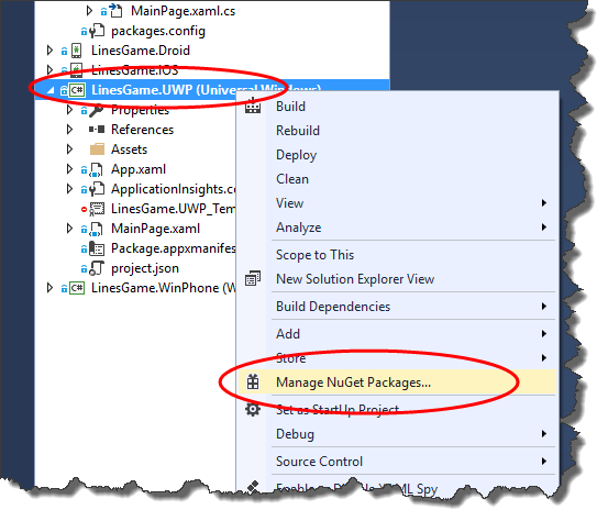 adding nuget packages to solution manually