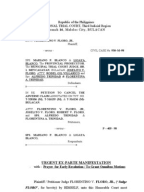 ex parte motions and hearings manual king county
