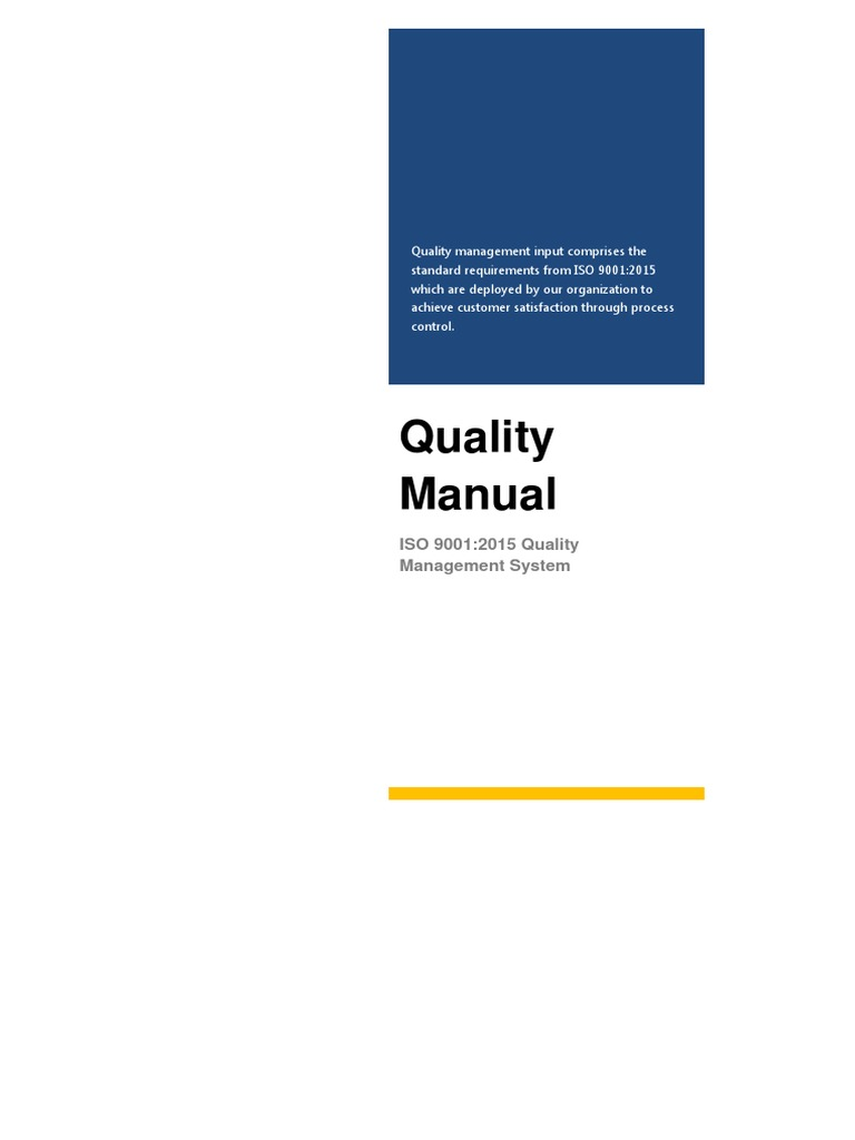 quality management systems solutions manual