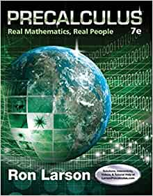 ron larson precailculus with limits 7th edition solution manual