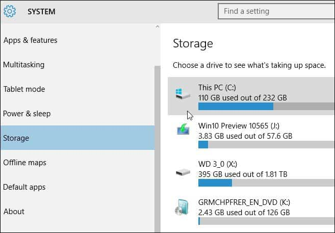 windows 10 manual update disk space option 2